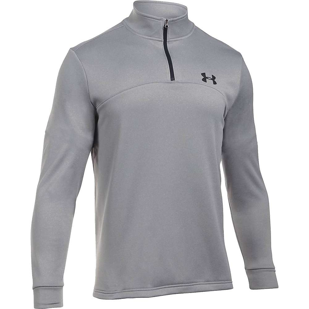 Under Armour Men's Armour Fleece Icon 1/4 Zip Top - XXL - True Grey Heather / Black