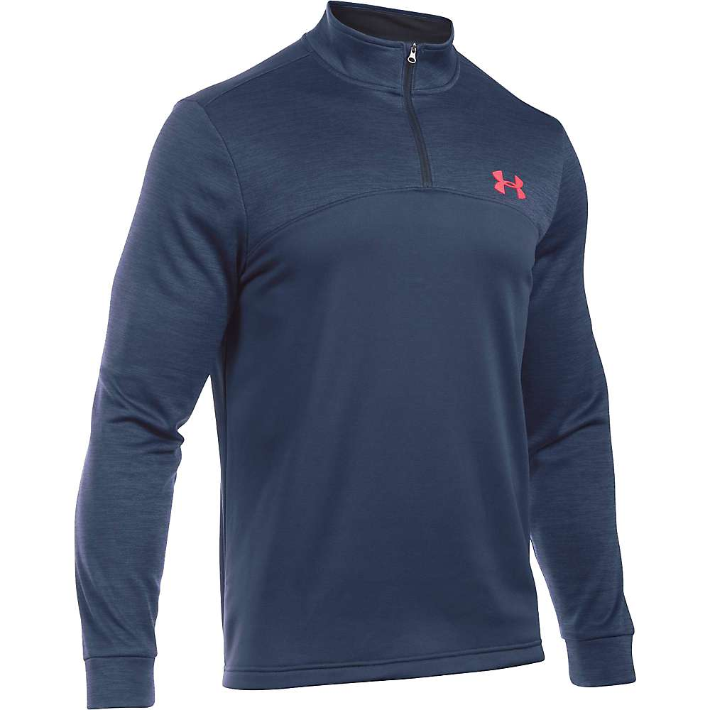 Under Armour Men's Armour Fleece Icon 1/4 Zip Top - XXL - Midnight Navy / Black / Bolt Orange