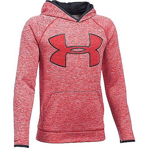 Under Armour Boys' UA Armour Fleece Storm Twist Highlight Hoodie Red / Black / Red