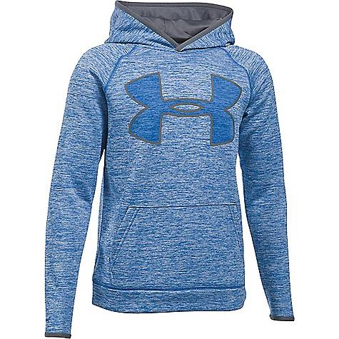 Under Armour Boys' UA Armour Fleece Storm Twist Highlight Hoodie Ultra Blue / Graphite / Graphite