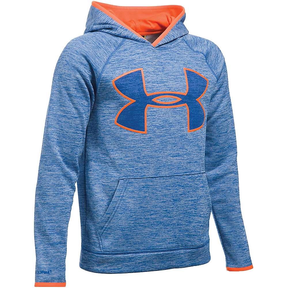 Under Armour Boys' UA Armour Fleece Storm Twist Highlight Hoodie - XL - Ultra Blue / Ultra Blue