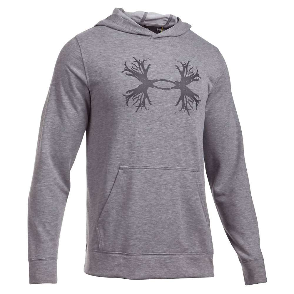 Under Armour Men's All Season Antler Hoodie - XXL - True Grey Heather / Charcoal