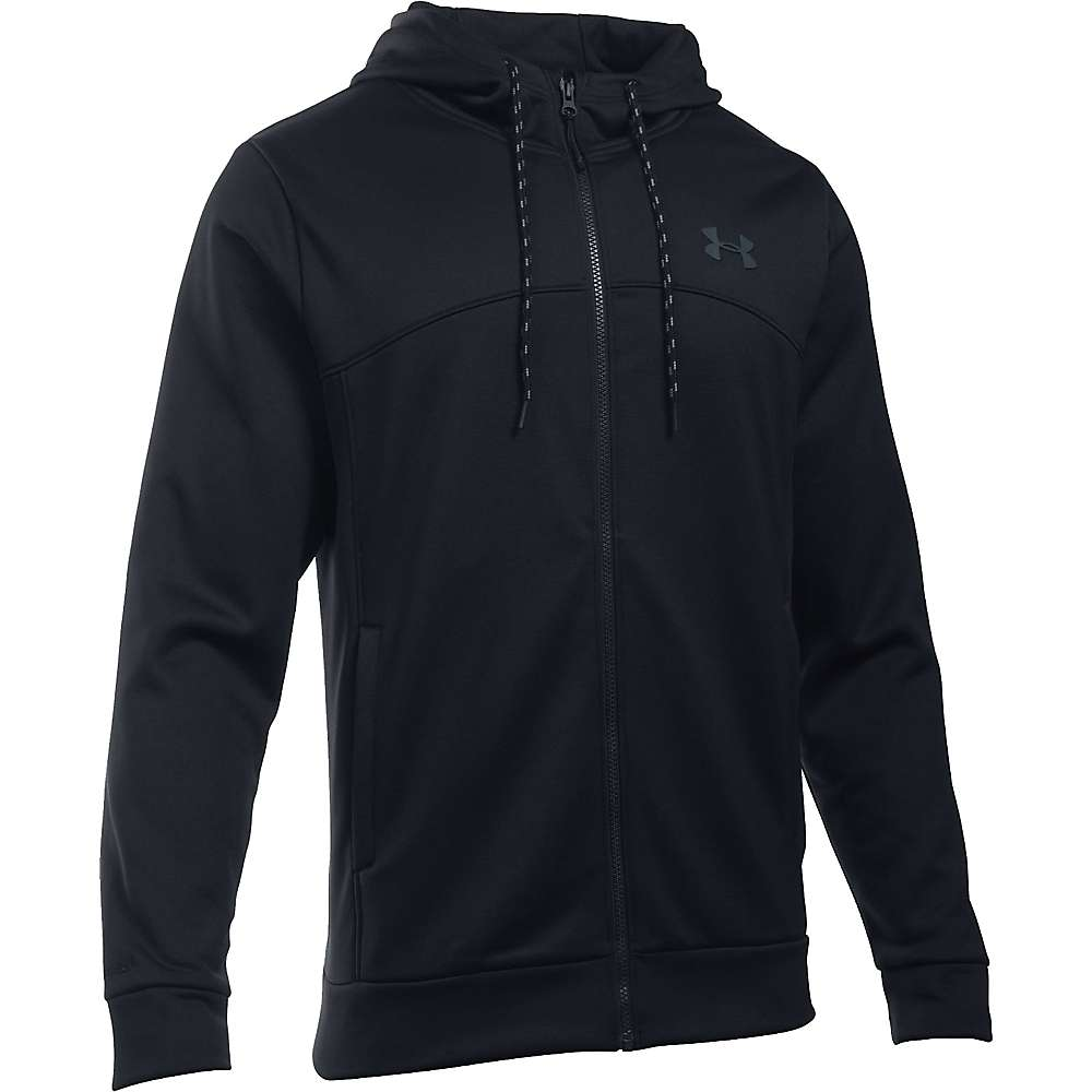 Under Armour Men's Armour Fleece Franchise Full Zip Hoodie - Medium - Black / Stealth Grey