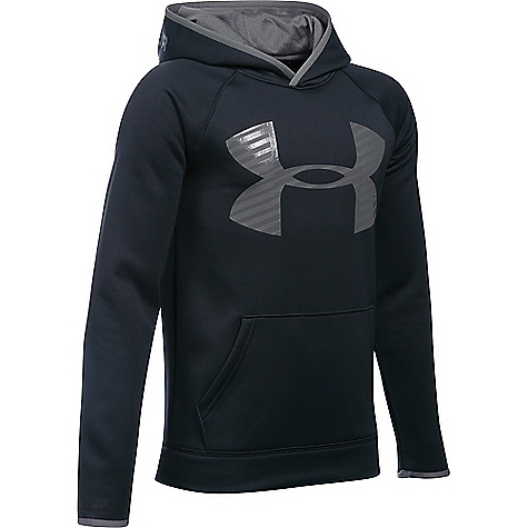 Under Armour Boy's Armour Fleece Storm Highlight Hoodie Black / Graphite