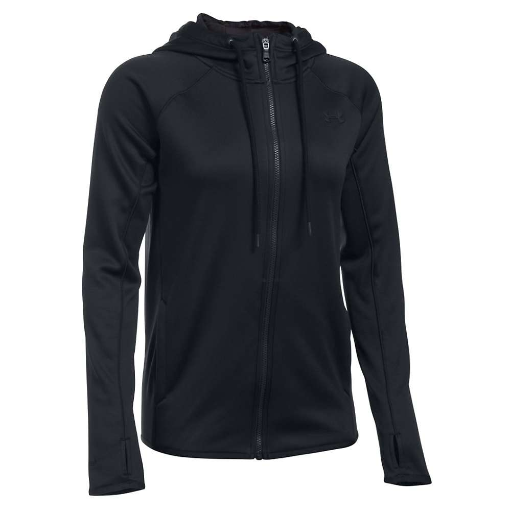 Under Armour Women's Armour Fleece Tunic Hoodie - Small - Black / Black