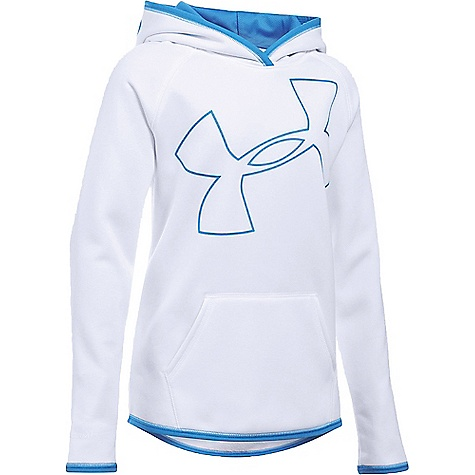 Under Armour Girl's Armour Fleece Big Logo Hoody White / Water / Water