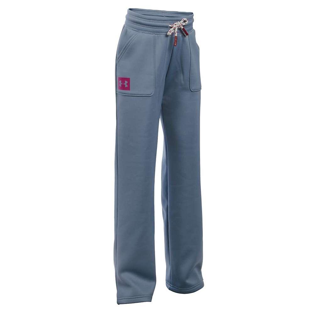 Under Armour Girl's Armour Fleece Boyfriend Pant - XL - Aurora Purple / Black Cherry