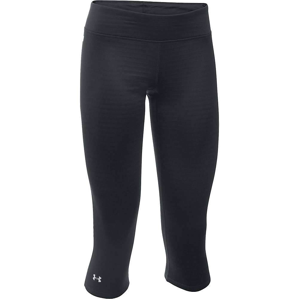 Under Armour Women's Base 2.0 3/4 Legging - Large - Black / Glacier Grey