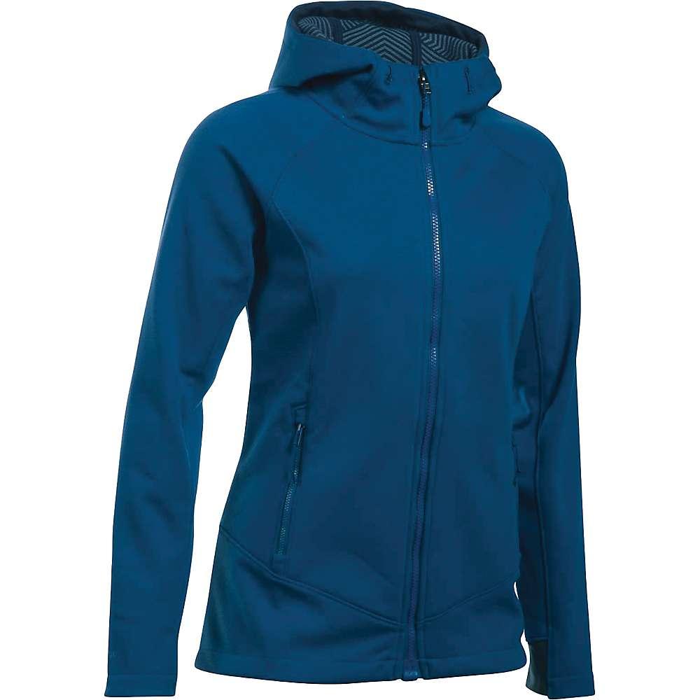 Under Armour Women's ColdGear Infrared Dobson Softshell Jacket - XS - Heron / Aqua Falls