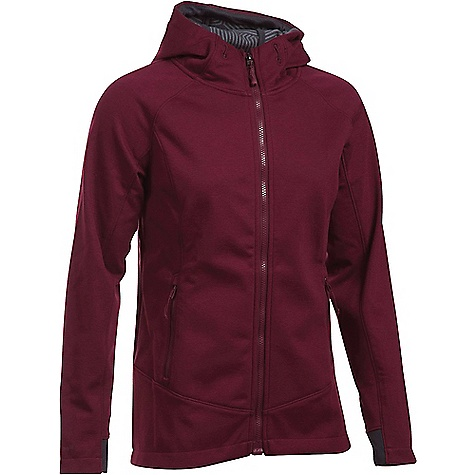 Under Armour Women's ColdGear Infrared Dobson Softshell Jacket Maroon / Stealth Grey