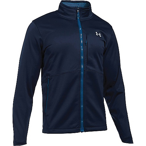 Under Armour Men's ColdGear Infrared Softershell Jacket Midnight Navy / Overcast Grey