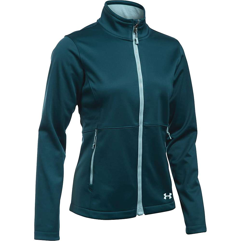 Under Armour Women's ColdGear Infrared Softershell Jacket - XL - Nova Teal / Aqua Falls