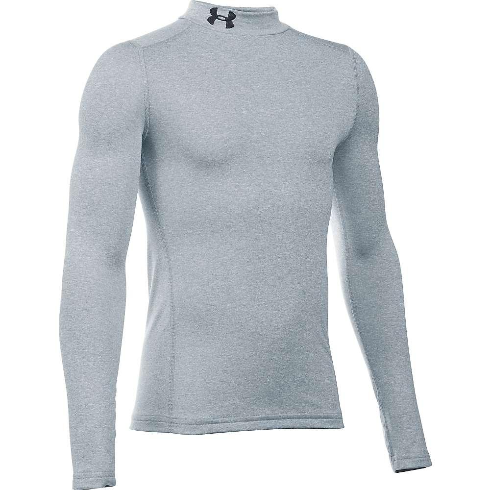 Under Armour Boys' UA ColdGear Armour Mock Neck Top - XL - True Grey Heather / Black