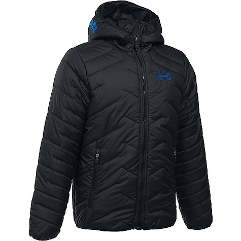 Under Armour Boy's ColdGear Reactor Hooded Jacket Black / Ultra Blue