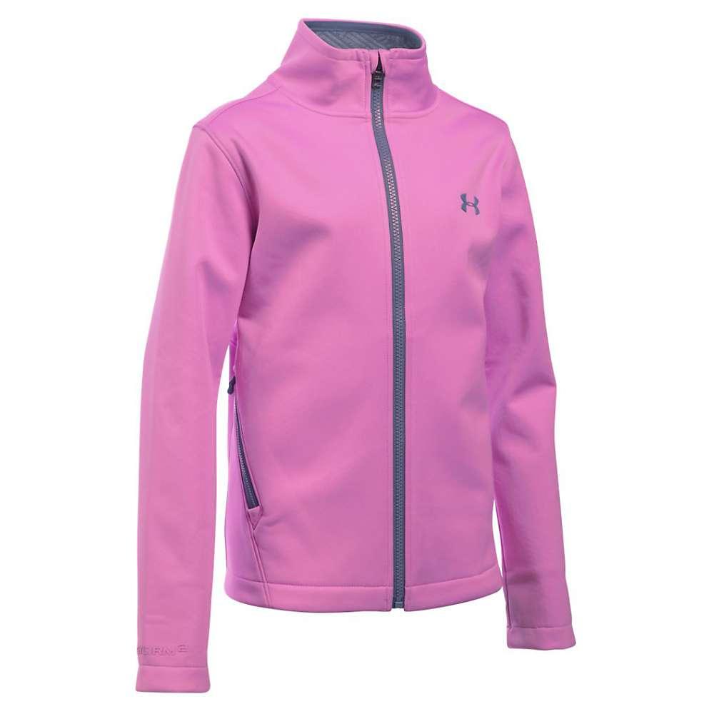 Under Armour Girls' UA ColdGear Infrared Softershell Jacket - XS - Verve Violet / Aurora Purple