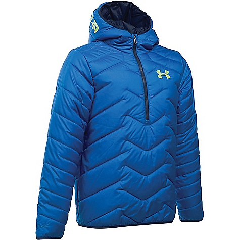 Under Armour Boy's ColdGear Reactor Anorak Ultra Blue / Fuel Green