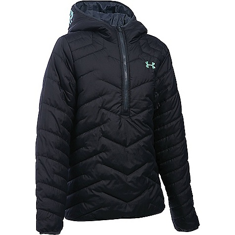 Under Armour Girl's ColdGear Reactor Anorak Black / Crystal
