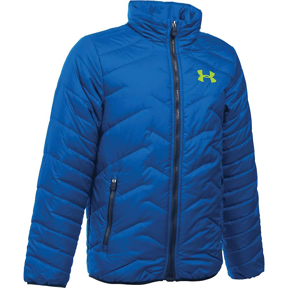 Under Armour Boys' UA ColdGear Reactor Jacket - Small - Ultra Blue / Fuel Green