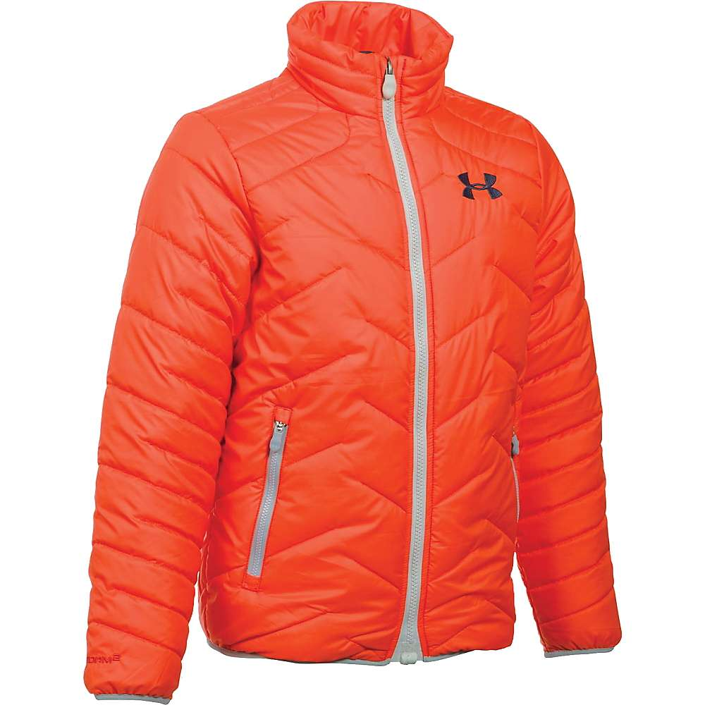 Under Armour Boys' UA ColdGear Reactor Jacket - Small - Volcano / Midnight Navy