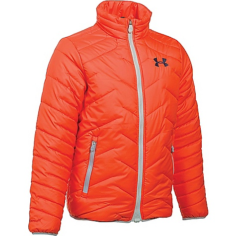 Under Armour Boys' UA ColdGear Reactor Jacket Volcano / Midnight Navy