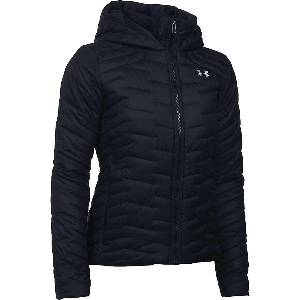 Under Armour Women's UA ColdGear Reactor Hooded Jacket - XS - Black / Black / Glacier Grey