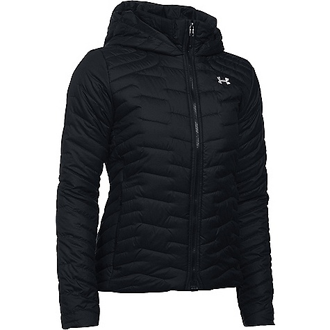 Under Armour Women's UA ColdGear Reactor Hooded Jacket Black / Black / Glacier Grey