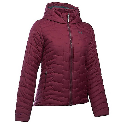 Under Armour Women's UA ColdGear Reactor Hooded Jacket Maroon / Stealth Grey