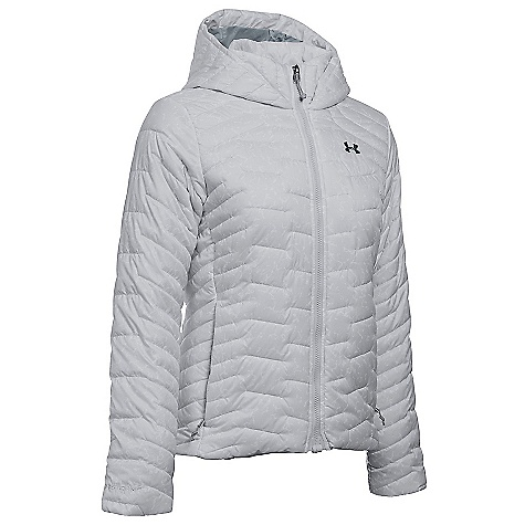 Under Armour Women's UA ColdGear Reactor Hooded Jacket Glacier Grey / Steel / Stealth Grey