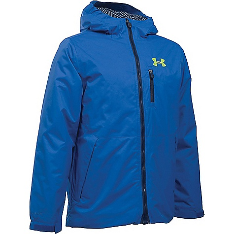 Under Armour Boy's ColdGear Reactor Yonders Jacket Ultra Blue / Fuel Green