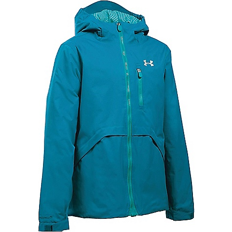 Under Armour Girl's ColdGear Reactor Yonders Jacket Teal Blast / Glacier Grey