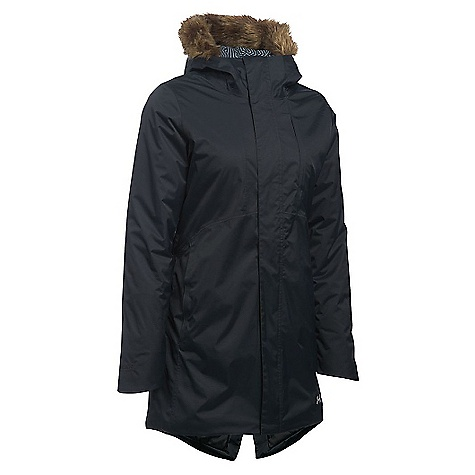 Under Armour Women's ColdGear Reactor Voltage Parka Black / Stealth Grey