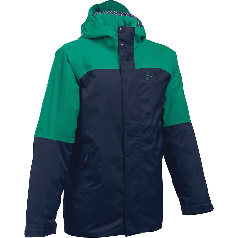 Under Armour Boy's ColdGear Reactor Wayside 3 In 1 Jacket - XS - Midnight Navy / Nova Teal