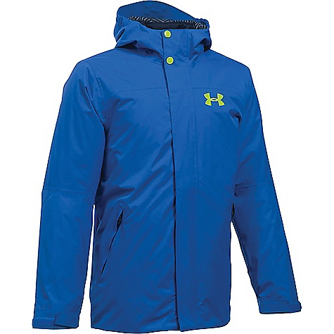 Under Armour Boy's ColdGear Reactor Wayside 3 In 1 Jacket Ultra Blue / Fuel Green