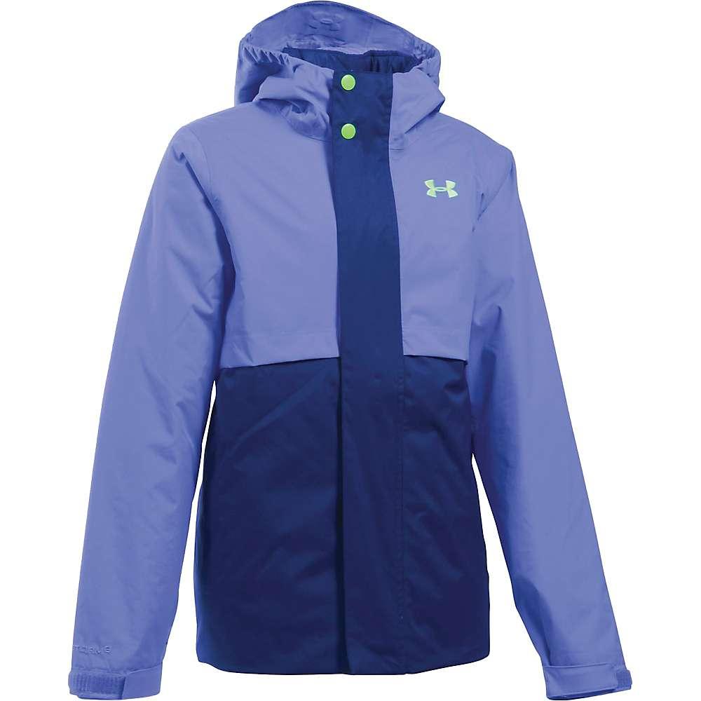Under Armour Girl's ColdGear Reactor Wayside 3 In 1 Jacket - Medium - Violet Storm / Lime Light