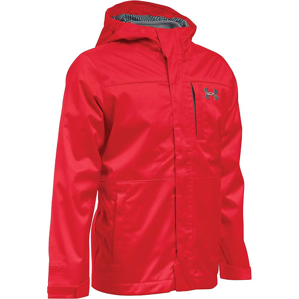 Under Armour Boys' UA ColdGear Infrared Wildwood 3 In 1 Jacket - Large - Red / Graphite / Graphite