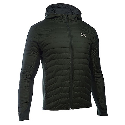 Under Armour Men's ColdGear Reactor Hybrid Jacket Artillery Green / Greystone