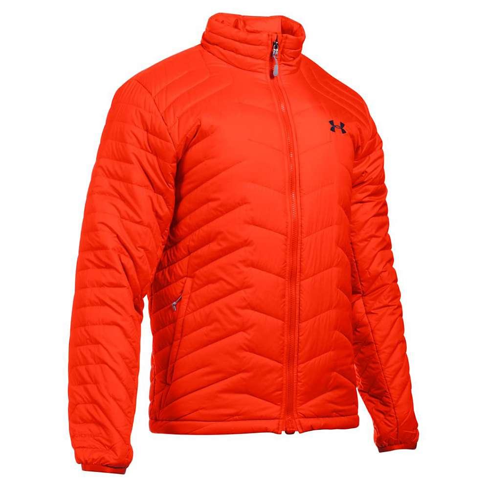 Under Armour Men's UA ColdGear Reactor Jacket - XL - Dark Orange / Stealth Grey