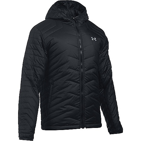 Under Armour Men's UA ColdGear Reactor Hooded Jacket Black / Black / Steel