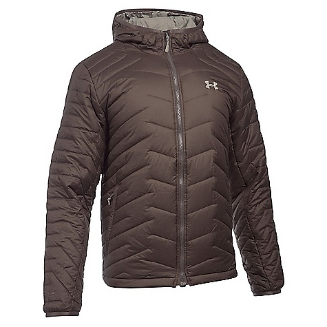 Under Armour Men's UA ColdGear Reactor Hooded Jacket Maverick Brown / Greystone