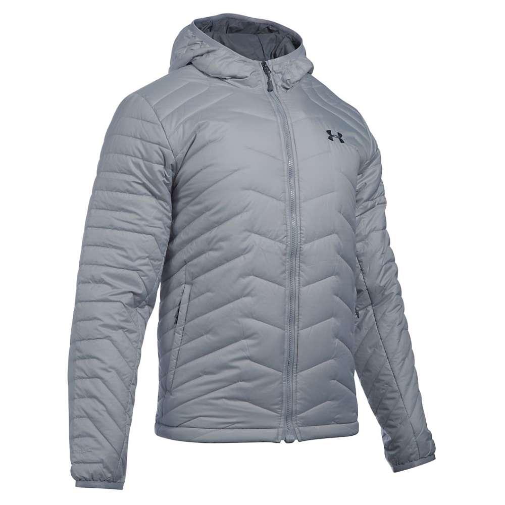 Under Armour Men's UA ColdGear Reactor Hooded Jacket - XL - Overcast Grey / Stealth Grey
