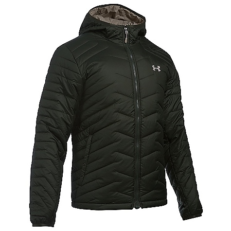 Under Armour Men's UA ColdGear Reactor Hooded Jacket Artillery Green / Stoneleigh Taupe / Greystone