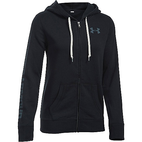 Under Armour Women's Favorite Fleece Full Zip Hoodie Black / White