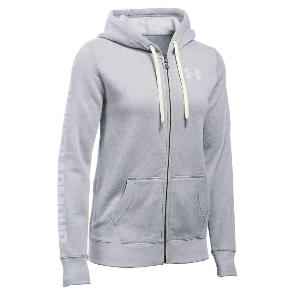 Under Armour Women's Favorite Fleece Full Zip Hoodie - Small - True Grey Heather / White