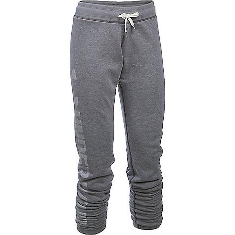 Under Armour Women's Favorite Fleece Pant Carbon Heather / White