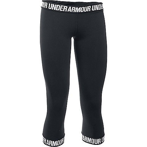 Under Armour Women's UA Favorite Capri Black / Black / Metallic Silver