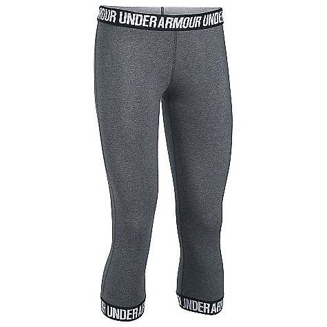 Under Armour Women's UA Favorite Capri Carbon Heather / Black / Metallic Silver