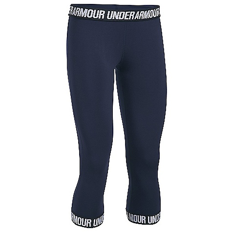 Under Armour Women's UA Favorite Capri Midnight Navy / Black / Metallic Silver