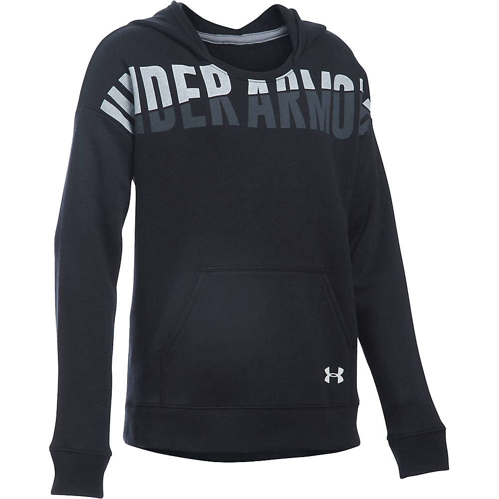 Under Armour Girl's Favorite Fleece Hoody - Small - Black / White
