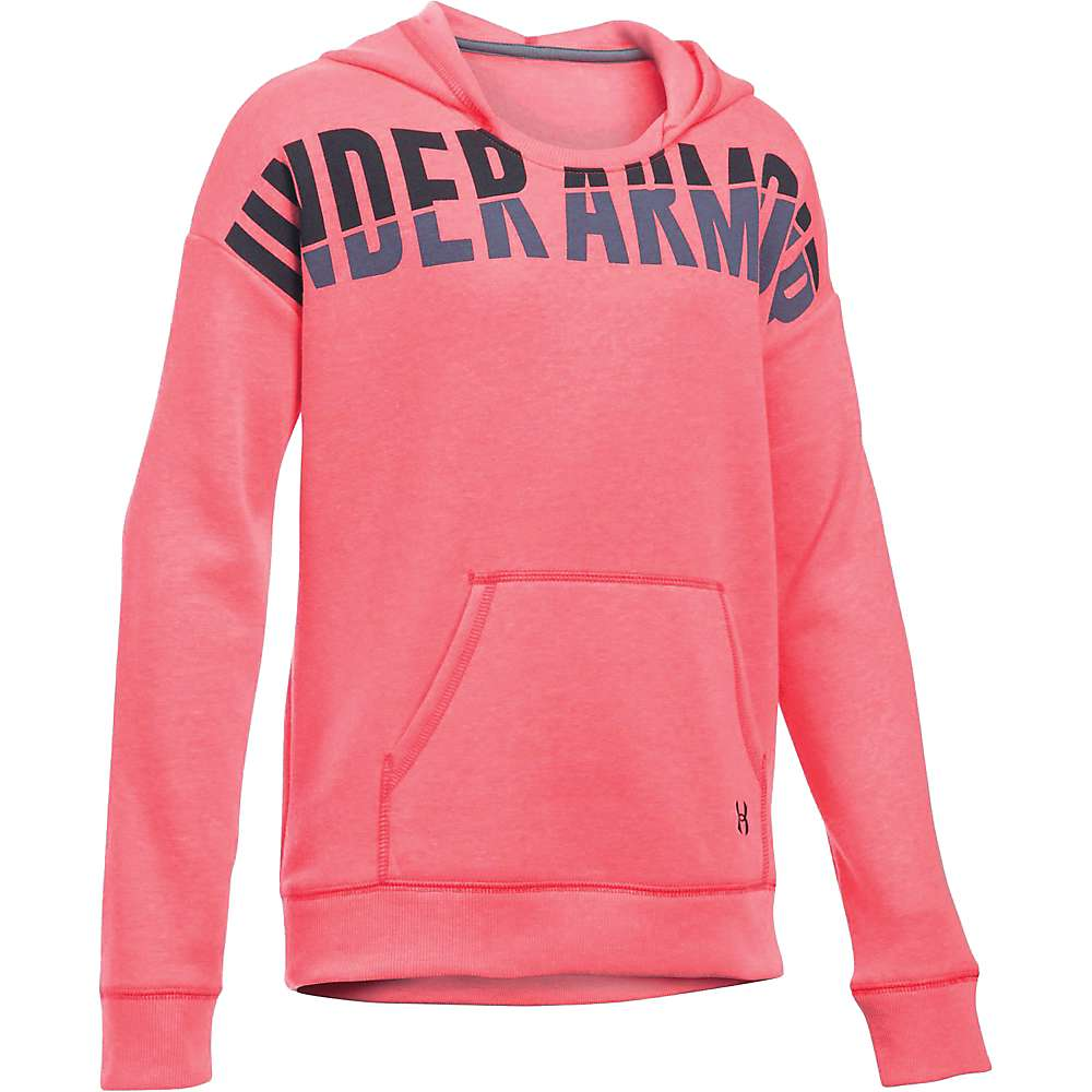 Under Armour Girl's Favorite Fleece Hoody - Small - Pink Chroma / Black