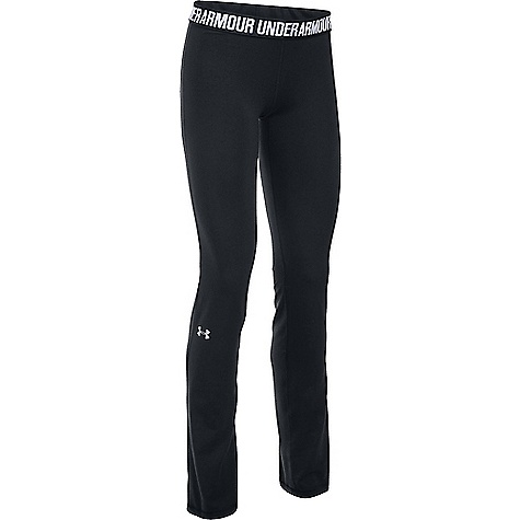Under Armour Women's UA Favorite Pant Black / White / Metallic Silver